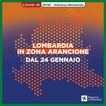 Lombardia in zona arancione